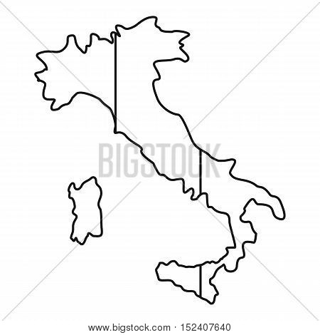 Italy map icon. Outline illustration of vector icon for web