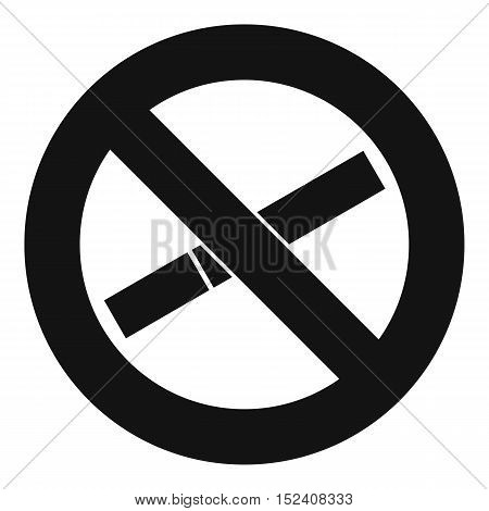 No smoking sign icon. Simple illustration of no smoking vector icon for web