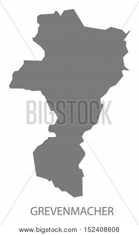 Grevenmacher Luxembourg Map grey illustration high res