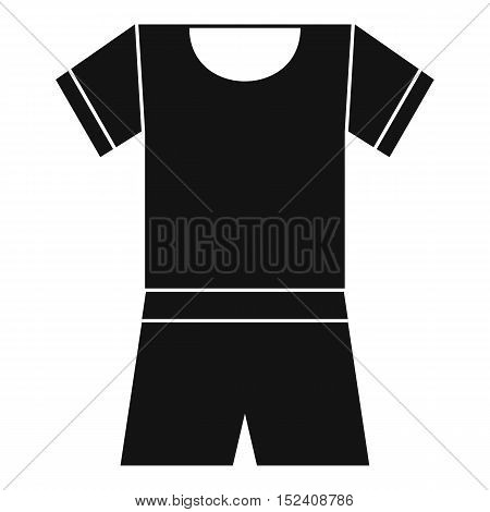 Sport shirt and shorts icon. Simple illustration of sport shirt and shorts vector icon for web