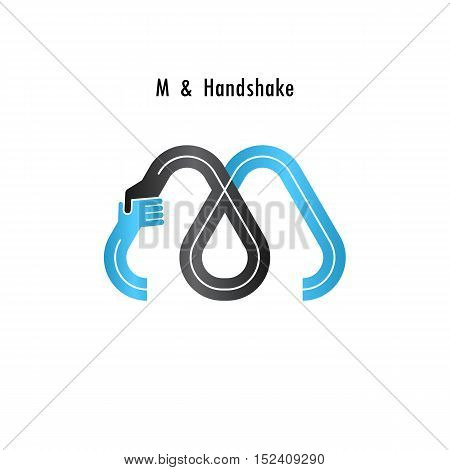 M- letter icon abstract logo design vector template.Business offerpartnership icon.Corporate business and industrial logotype symbol.Vector illustration