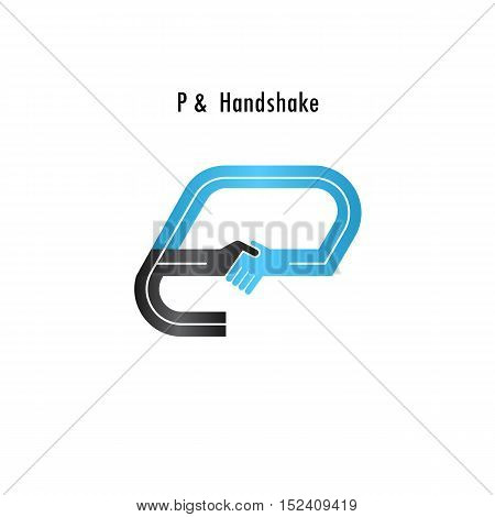 P- letter icon abstract logo design vector template.Business offerpartnership icon.Corporate business and industrial logotype symbol.Vector illustration