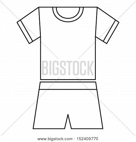 Sport uniform icon. Outline illustration of sport uniform vector icon for web