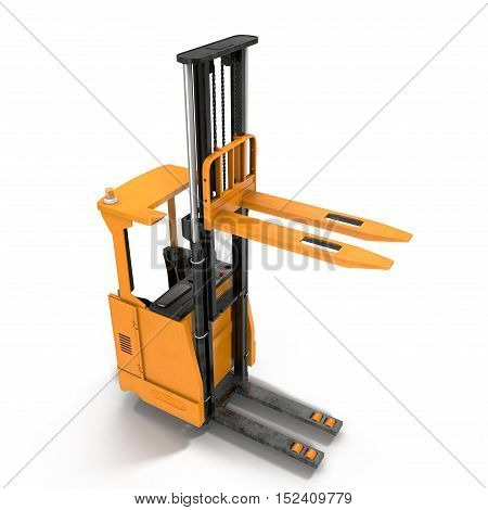 Angle from up Rider Stacker on white background. 3D illustration