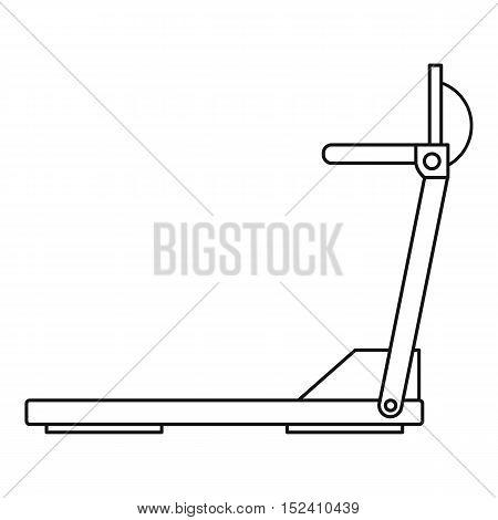 Sport treadmill icon. Outline illustration of treadmill vector icon for web