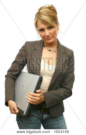 Business Woman Working - Laptop