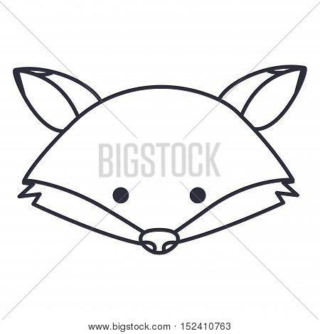 Fox cartoon icon. Cute animal creature and little theme. Isolated design. Vector illustration