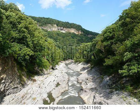 mountain river in the Krasnodar reserve. summertime