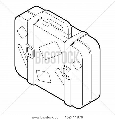 Suitcase icon. Outline illustration of suitcase vector icon for web