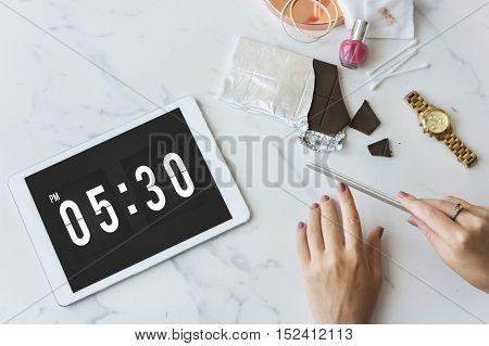 Time Punctual Alarm Second Minute Hour Concept