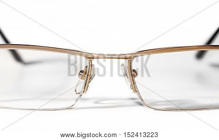 Glasses for sight on a white background