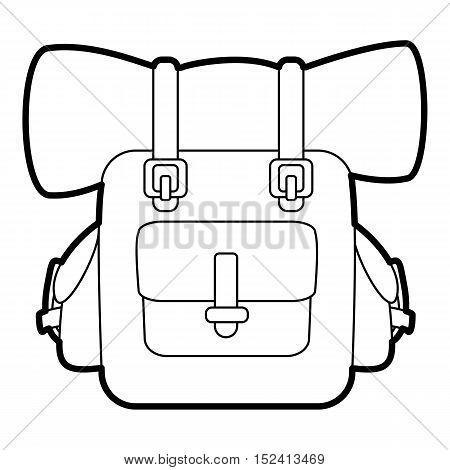 Backpack for travel icon. Outline illustration of backpack for travel vector icon for web design