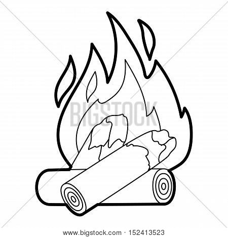 Fire icon. Outline illustration of fire vector icon for web design