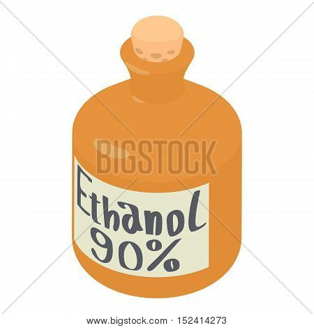 Ethanol in bottle icon. Isometric 3d illustration of ethanol in bottle vector icon for web