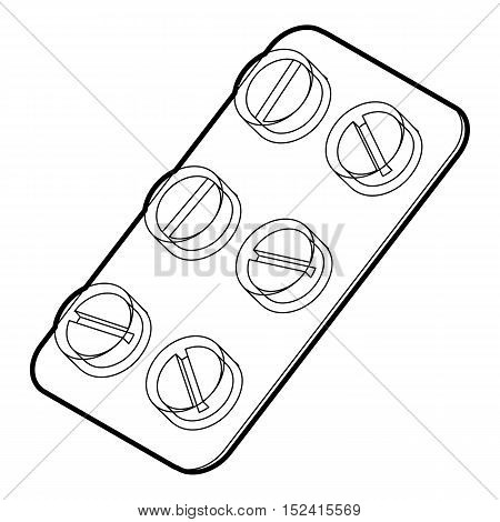 Pills icon. Outline illustration of pills vector icon for web