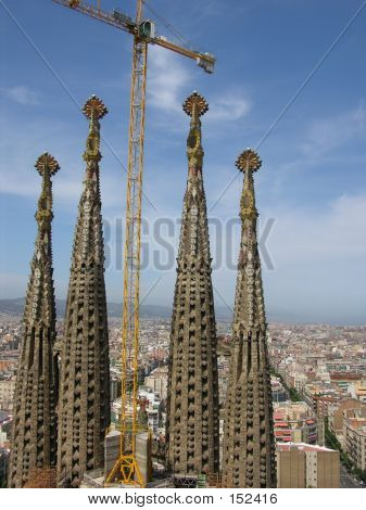 Cathedral Sagrada Familia In Barcelona