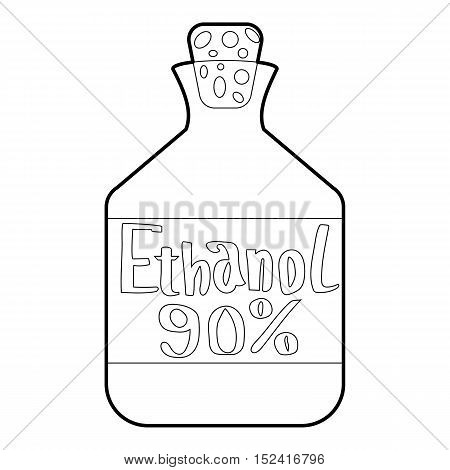 Ethanol in bottle icon. Outline illustration of ethanol in bottle vector icon for web design