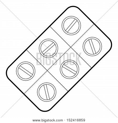 Pills icon. Outline illustration of pills vector icon for web design
