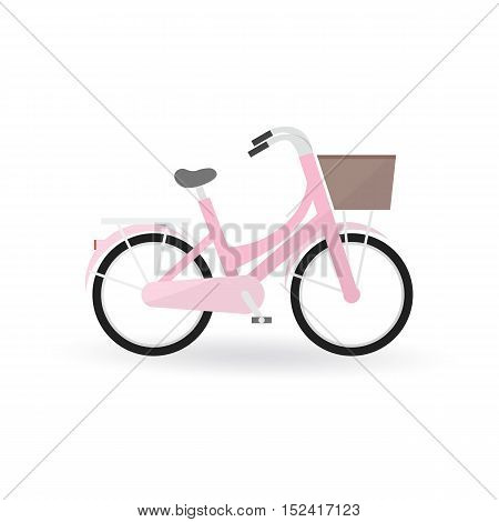 Bicycle Concept By General Bike Is Pink Color