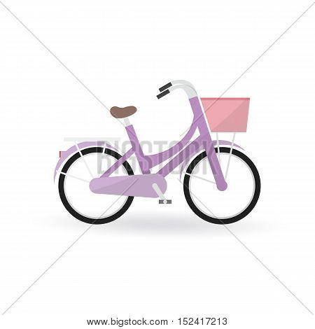 Bicycle Concept By General Bike Is Purple Color