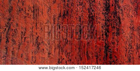 Abstract photography of landscapes of deserts of Africa from the air, nature imitating art, red wall,