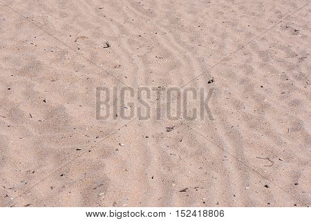 Closeup Sand Pattern Of A Beach In The Summer