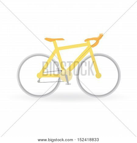 Bicycle Concept By Mountain Bike Is Yellow Color