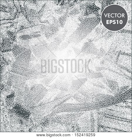 Winter abstract dotted background. Snowy vector texture.
