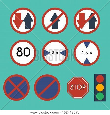 Traffic Signs Pack Set. Traffic Signs, vector
