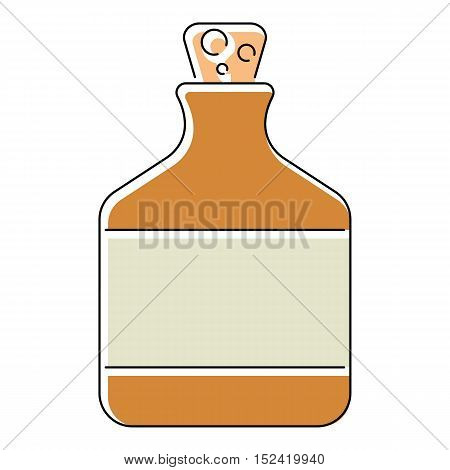 Ethanol in bottle icon. Flat illustration of ethanol in bottle vector icon for web isolated on white background