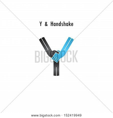 Y- letter icon abstract logo design vector template.Business offerpartnership icon.Corporate business and industrial logotype symbol.Vector illustration