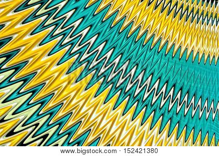 Abstract zigzag background - computer-generated image. Fractal geometry: glossy diagonal waves or zig zag. For covers, desktop wallpaper, web design.
