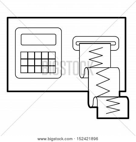 Cardiograph icon. Outline illustration of cardiograph vector icon for web