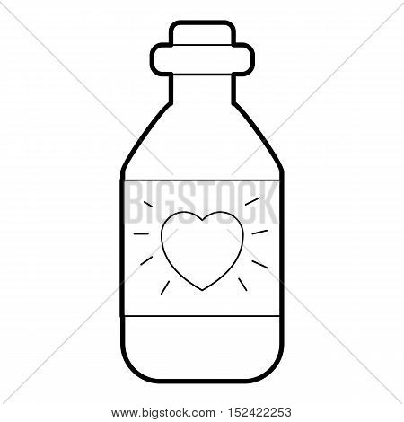 Medicinal drops for heart icon. Outline illustration of medicinal drops for heart vector icon for web
