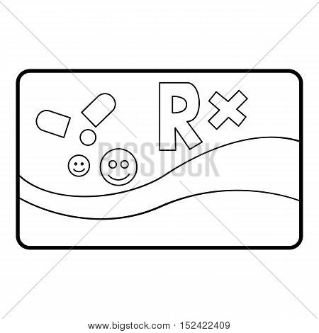 Medical card chronic diseases icon. Outline illustration of medical card chronic diseases vector icon for web