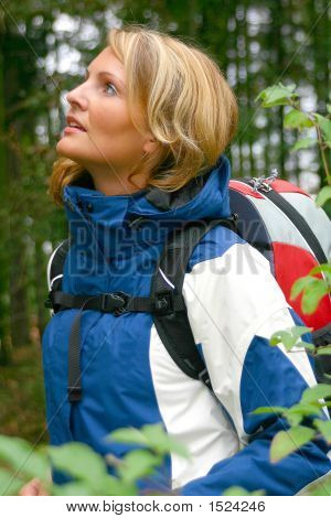 A Beautiful Trekking Woman