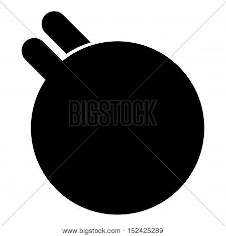 Hands holding fitness ball icon. Simple illustration of hands holding fitness ball vector icon for web