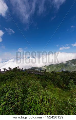 Mountain landscape, Viewpoint of Kio Mae Pan, Chiang Mai, Thailand