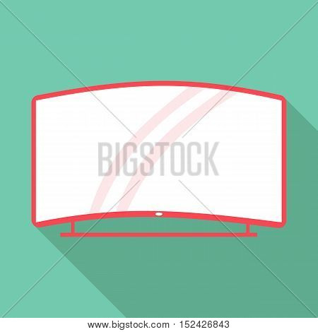Curved TV icon. Flat illustration of curved TV vector icon for web