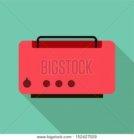 Toaster icon. Flat illustration of toaster vector icon for web