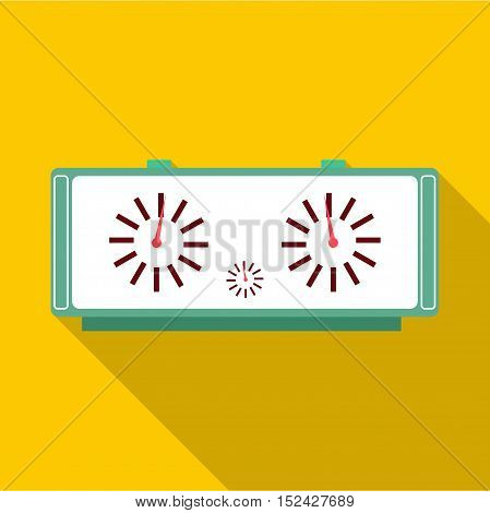 Chess clock icon. Flat illustration of chess clock vector icon for web