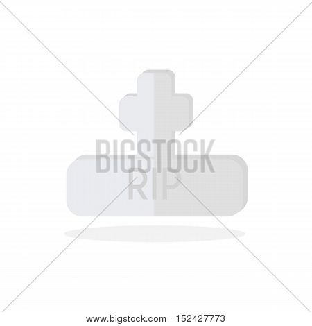 Grave flat design,  Gravestone vector, Gravestone Icon