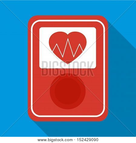 Screen of smart fitness watch icon. Flat illustration of screen of smart fitness watch vector icon for web