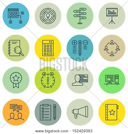 Set Of Project Management Icons On Innovation, Warranty And Investment Topics. Editable Vector Illus