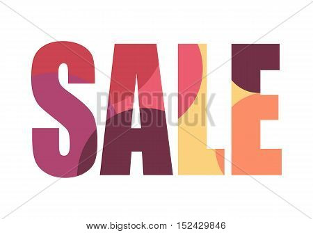 Sale banner isolated. Fall summer spring winter sale off price best offer big sale night best price christmas xmas sale. Advertising coupon badge label and sticker. Universal discount poster. Vector