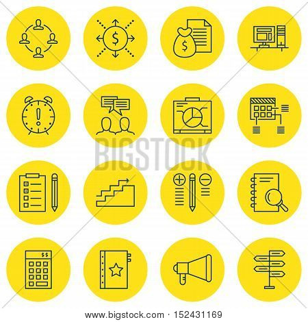 Set Of Project Management Icons On Warranty, Money And Report Topics. Editable Vector Illustration.