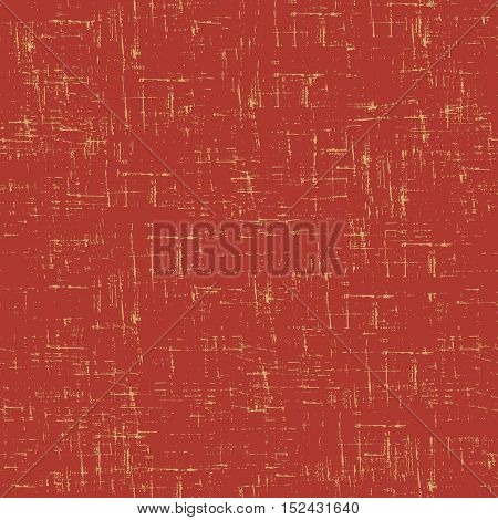 Imitation of old paper. Vector seamless pattern in red color.