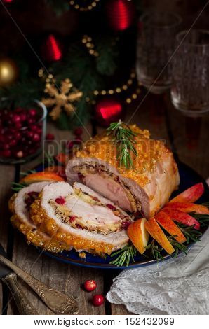 Pork Loin Stuffed With Chicken Breast