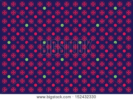 Vector of modern colorful snowflake element and background