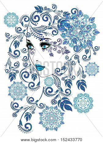 Winter Girl With Floral